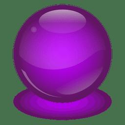 Bola de mármol púrpura