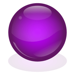 Purple marble ball