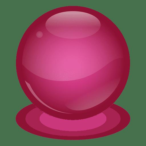 Bola de mármol roja
