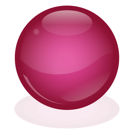Red marble ball Transparent PNG