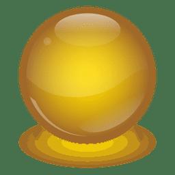 Bola de mármol amarilla