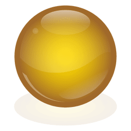 Yellow marble ball