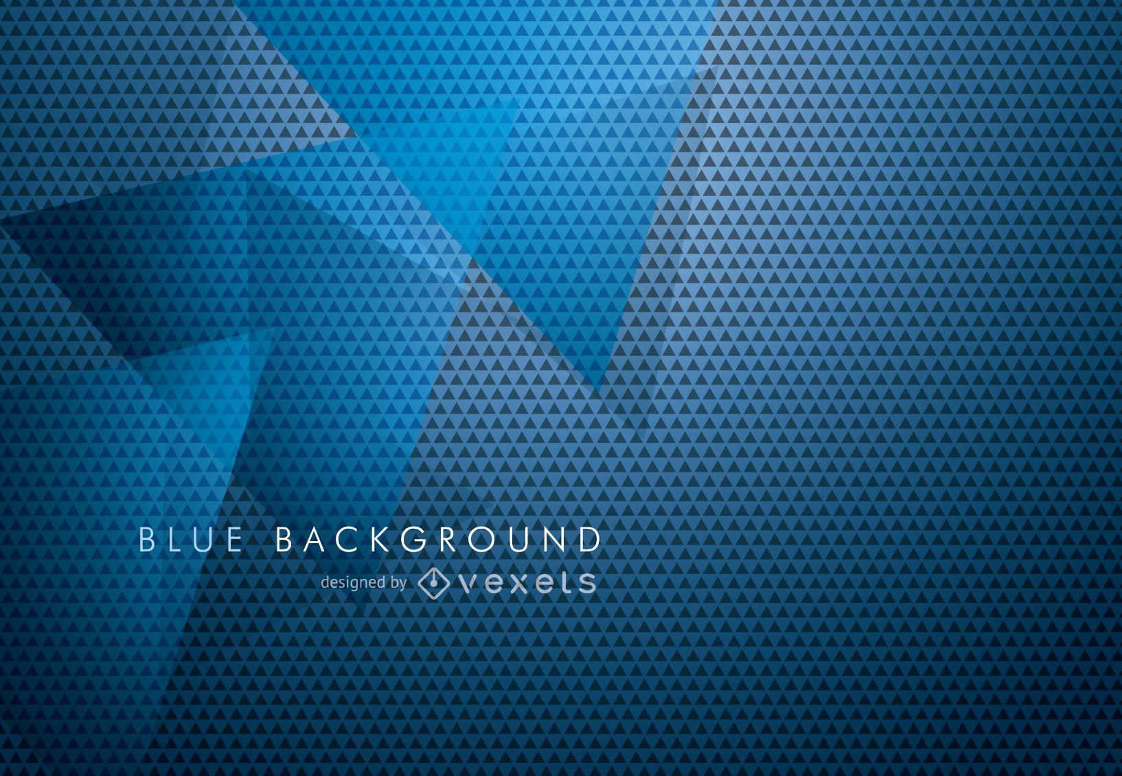 Fondo abstracto en azul con triángulos