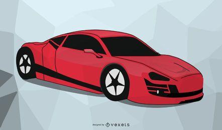 Vetor de carro corvette