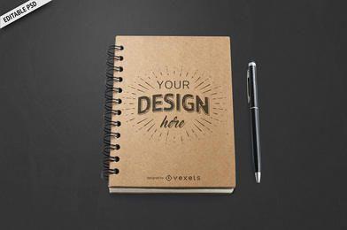 Maqueta de cuaderno PSD