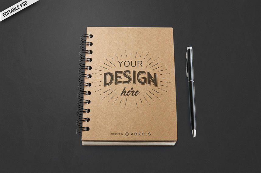 Maquete do notebook PSD