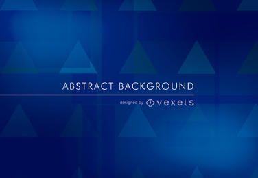 Fondo abstracto en azul con algunos triángulos