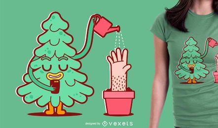 Diseño plano de la ilustración de la camiseta de dibujos animados