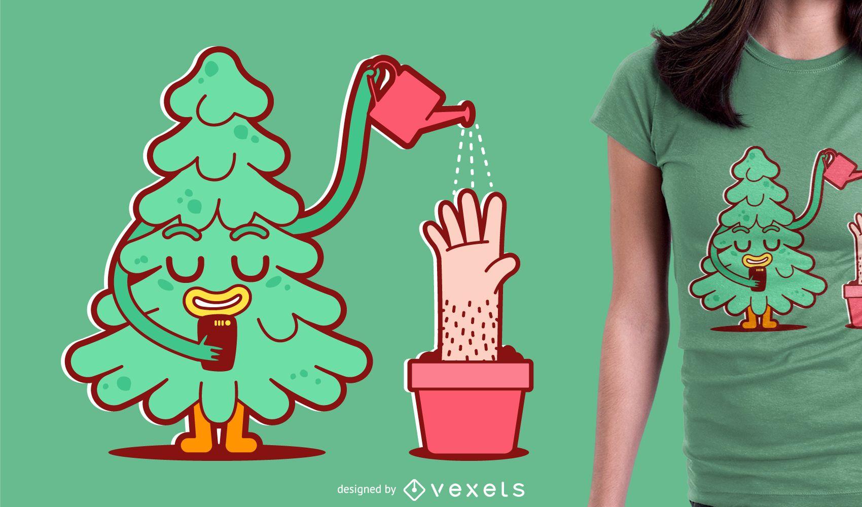 Desenho de ilustração de camiseta plana