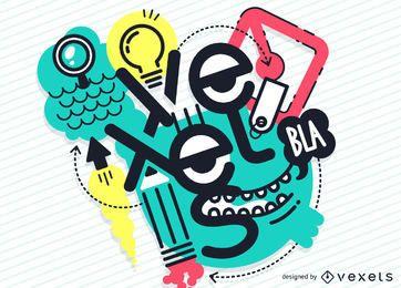 Projeto de ilustração vexels criativo