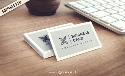 Cartão de visita PSD maquete