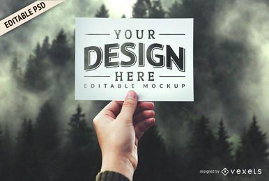 Diseño de plantilla de maqueta PSD