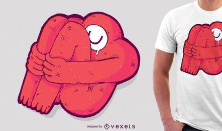 Projeto da mercadoria do tshirt do monstro