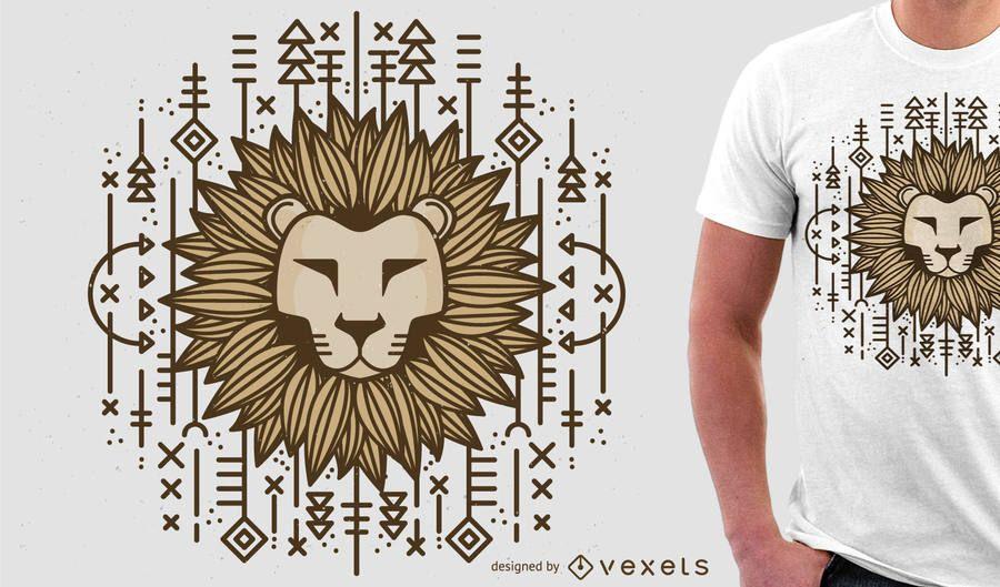 Ilustração do leão para mercadoria do tshirt
