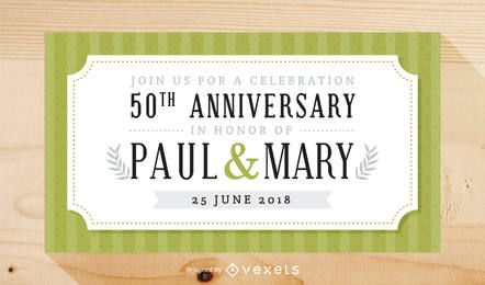 Convite elegante para festa de aniversário de casamento