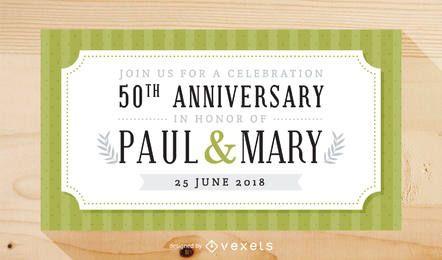 Invitación elegante de la celebración del aniversario de boda