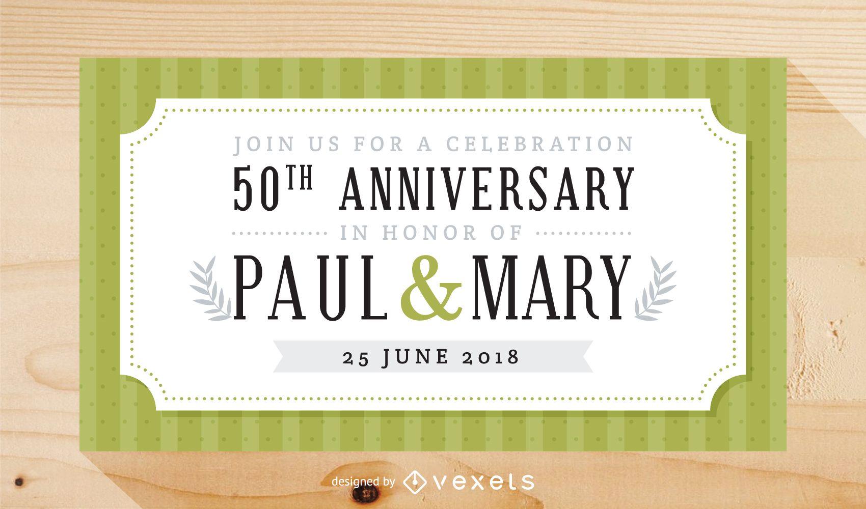 Elegant wedding anniversary celebration invitation