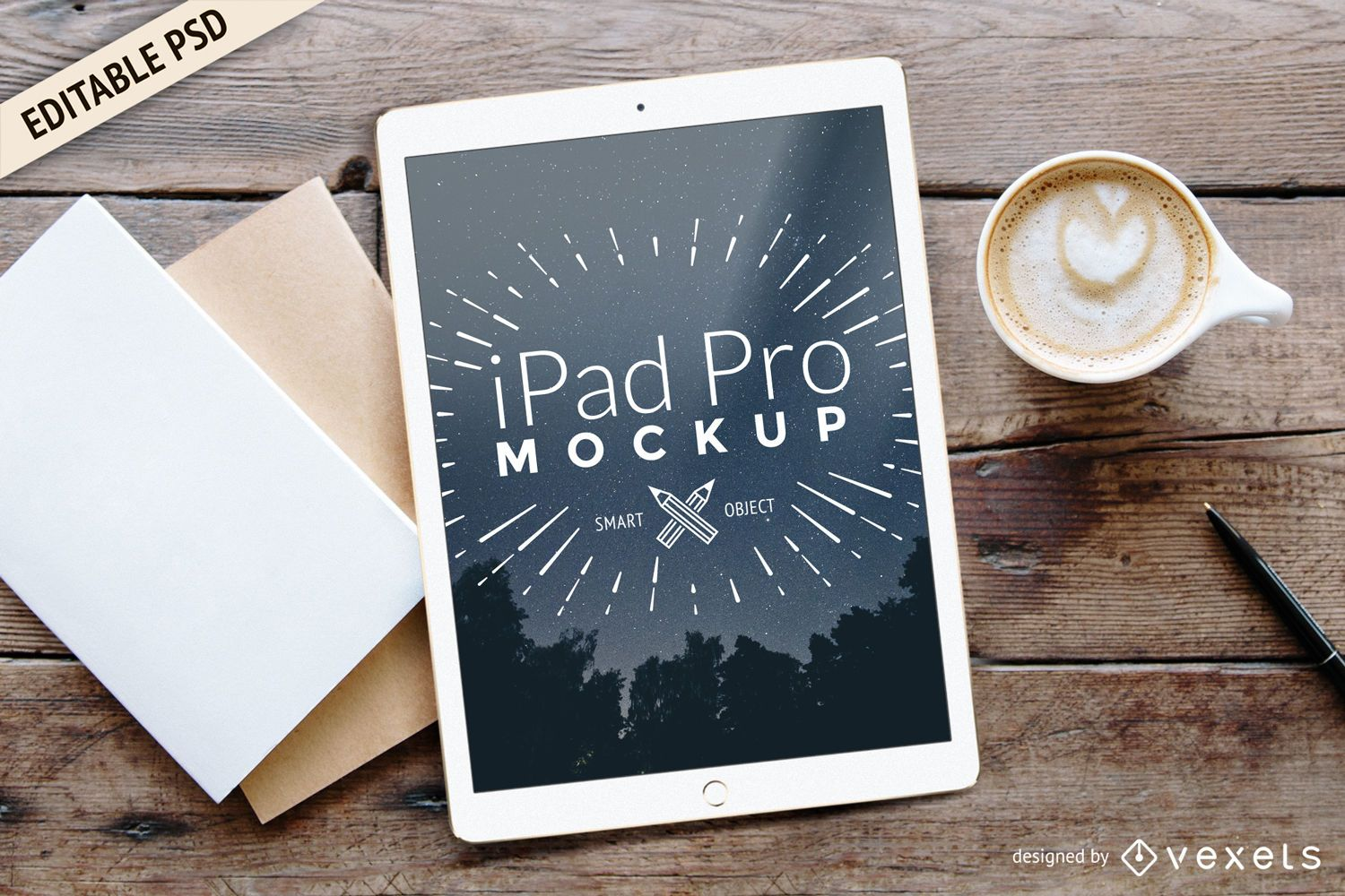 Like Facebook Logo Black And White iPad Pro PSD Mockup - ...