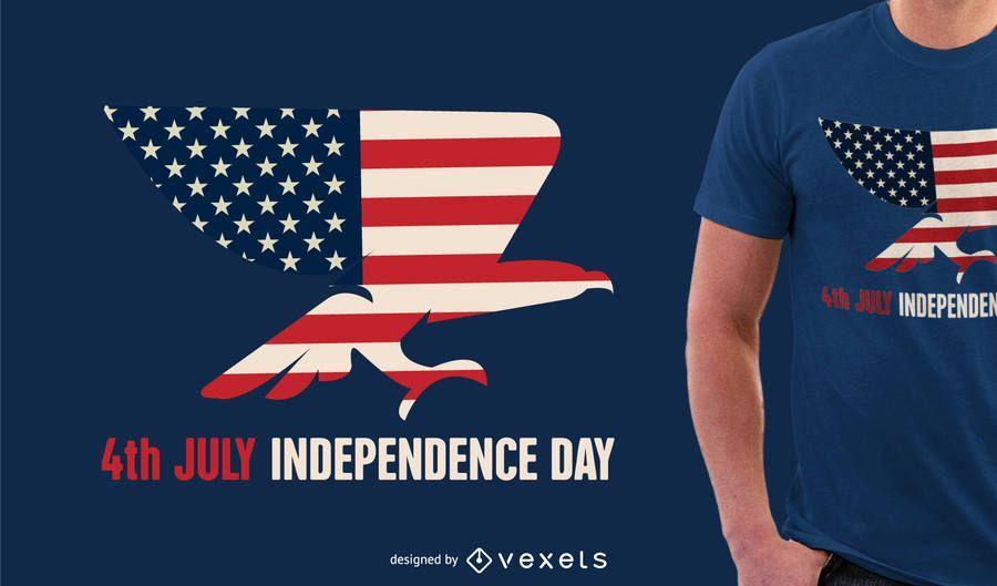Camiseta del diseño del Día de la Independencia