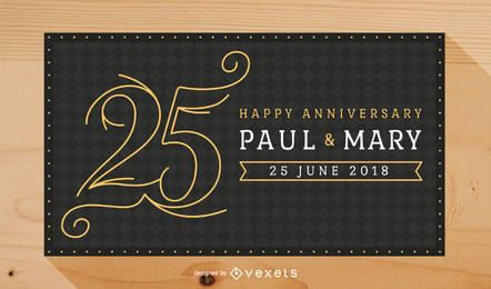 Design do convite da celebração do casamento