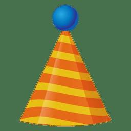 Ícone do chapéu de aniversário 3d