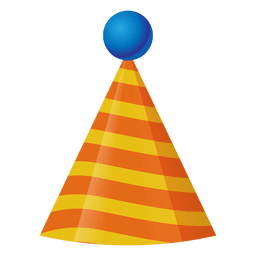 3d birthday hat icon