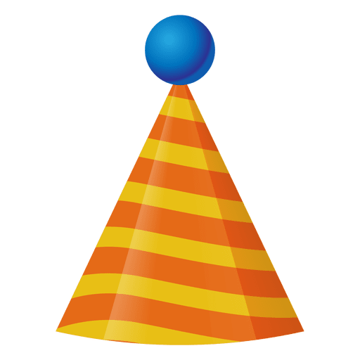 3d birthday hat icon Transparent PNG