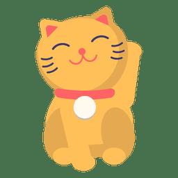 Farbe Maneki Neko Katze