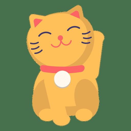 Color maneki neko cat Transparent PNG