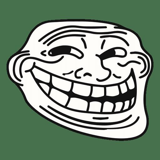 Coolface trollface meme