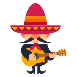 Mariachi playing guitar