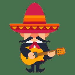 Mariachi tocando violão
