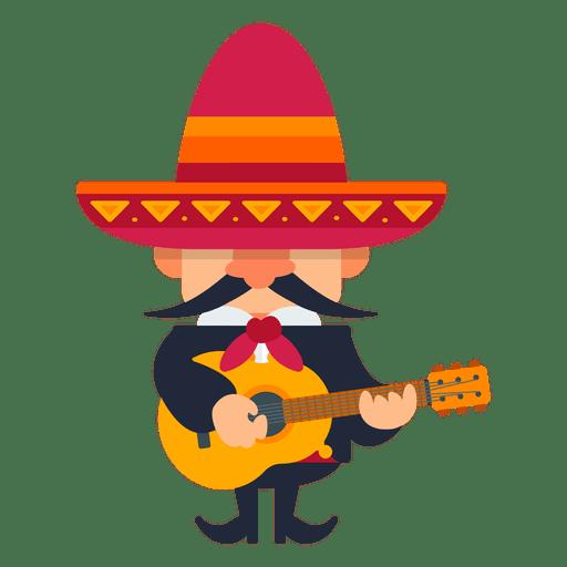 Mariachi tocando la guitarra Transparent PNG