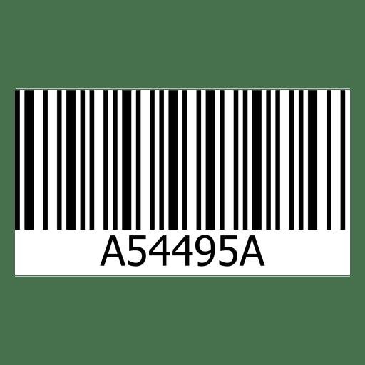 Diseño de código de barras Transparent PNG