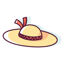 Mulher de chapéu de praia
