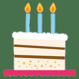 Ilustração do bolo de aniversário