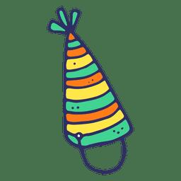 Desenho de chapéu de aniversário