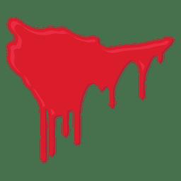 Respingos de sangue pingando