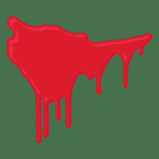Blood splatter dripping Transparent PNG