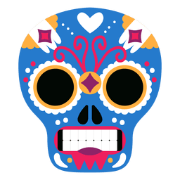 Blue skull mexican mask