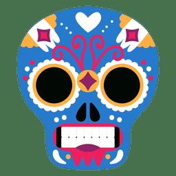 Máscara mexicana de caveira azul