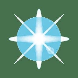 Blendenfleck mit blauem Stern