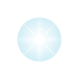 Reflexo de lente estrela azul