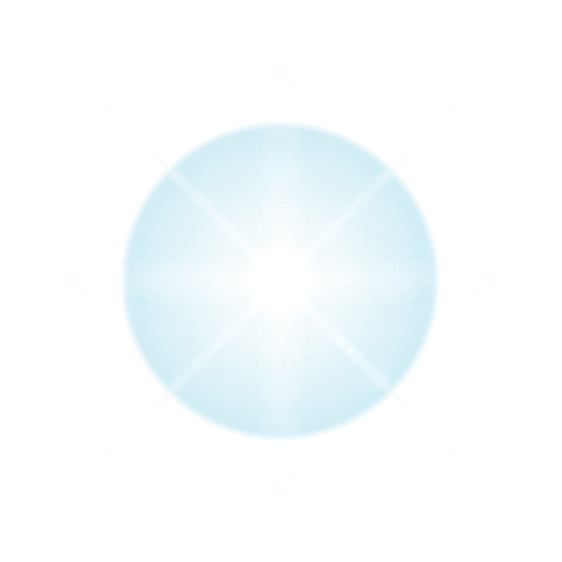 Blue star lens flare Transparent PNG