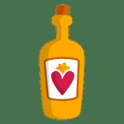 Botella de licor de tequila