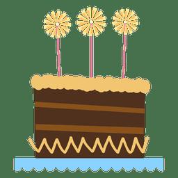 Pastel de cumpleaños marrón