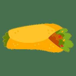 Comida de desenhos animados de burrito