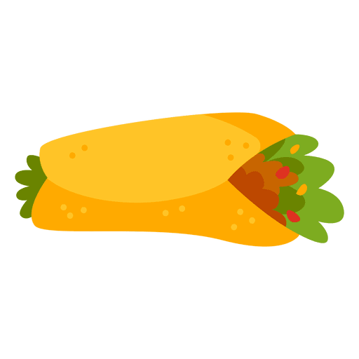 Burrito cartoon food Transparent PNG