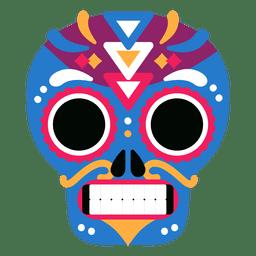 Día colorido del cráneo