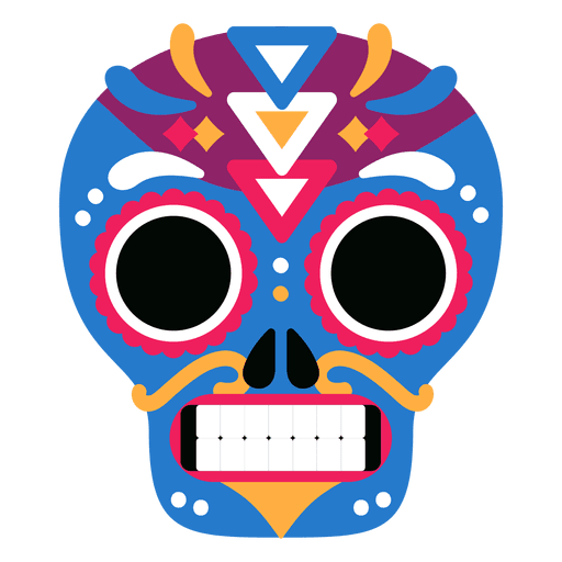 Colorful skull day Transparent PNG